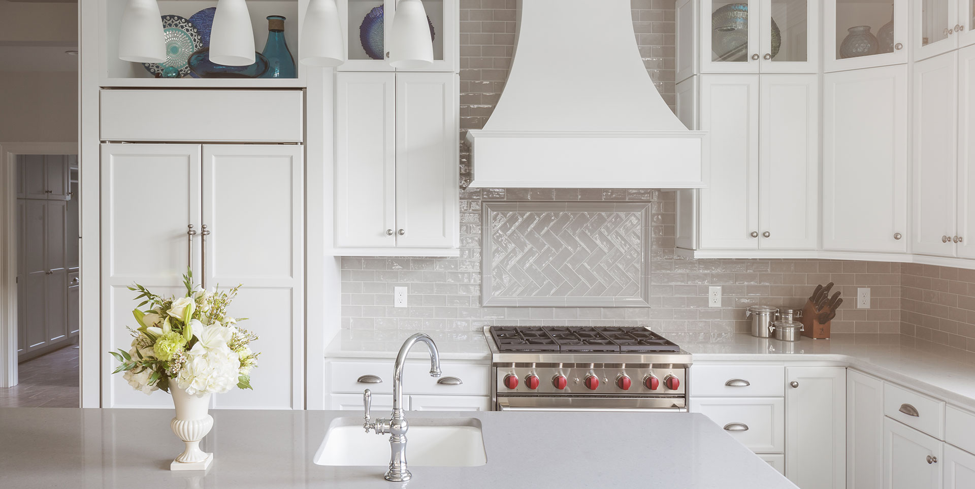 Amazing Clean White Traditional Subway Tile Kitchen U0026 Bath Gallery MA RI CT