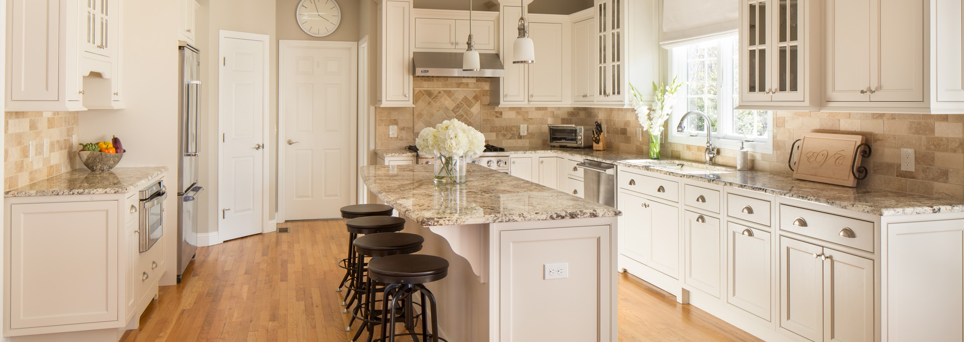 Warm White Kitchen Remodel Kitchen & Bath Gallery MA RI CT