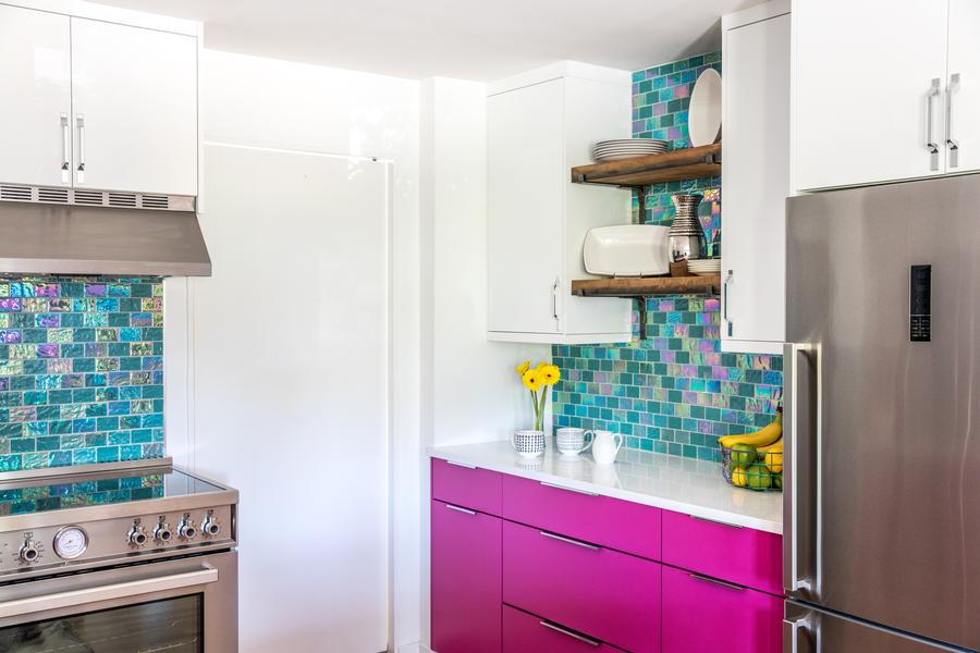 Vibrant Kitchen Remodel In Lowell Ma